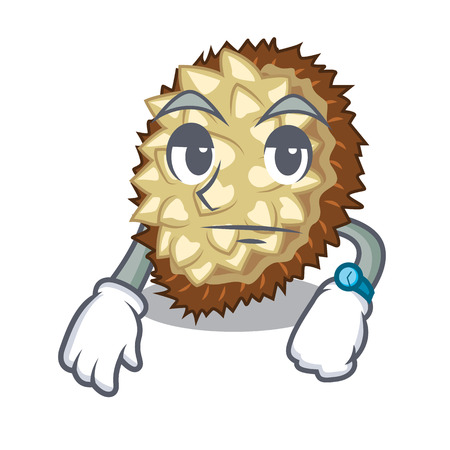 Waiting fruit marang is located in mascot vector illustration