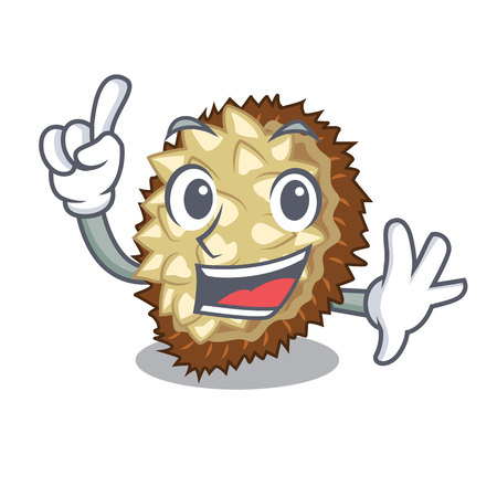 Finger fruit marang is located in mascot vector illustration