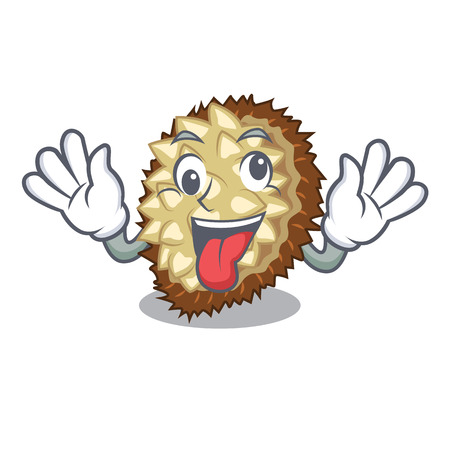 Crazy fruit marang is located in mascot vector illustration