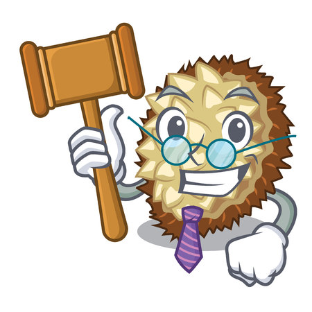 Judge fruit marang is located in mascot vector illustration  イラスト・ベクター素材