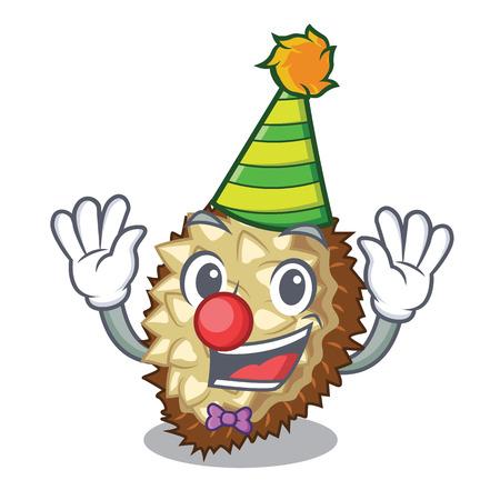 Clown fruit marang is located in mascot vector illustration  イラスト・ベクター素材