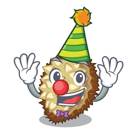 Clown fruit marang is located in mascot vector illustration Illustration
