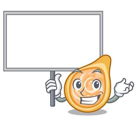 Bring board chicken coxinhas on the table cartoon vector illustration
