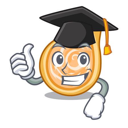 Graduation snacks coxinha on a character plates vector illustrartion