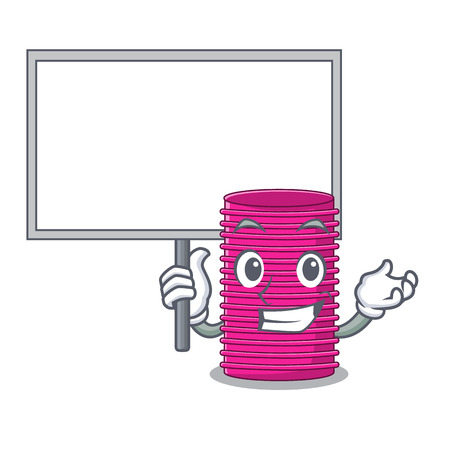 Bring board hair curlers isolated on a mascot vector illustration