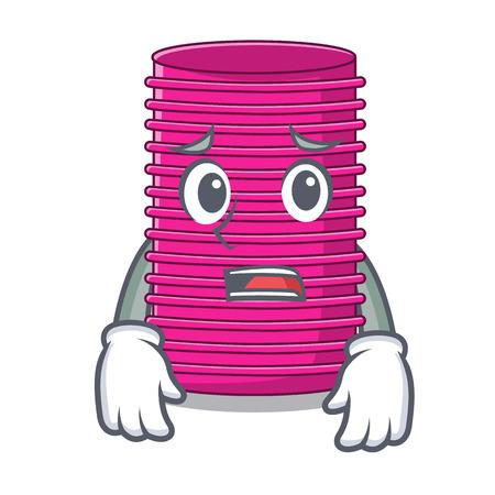 Afraid hair curler on the character table vector illustration