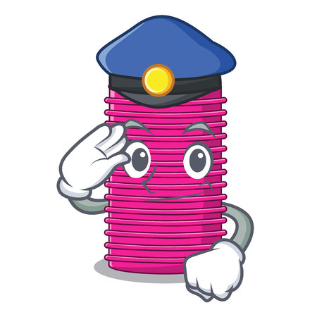 Police hair curlers isolated on a mascot vector illustration