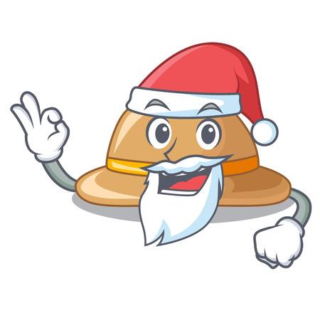Santa cork hat in a cartoon style Illusztráció
