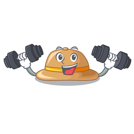 Fitness cork hat isolated on the mascot vector illustration