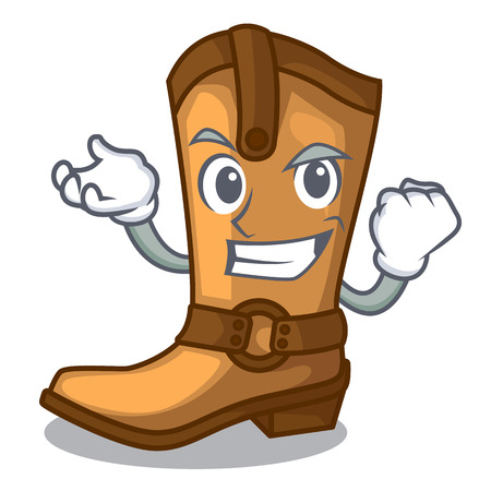 Successful cowboy boots isolated in the mascot vector illustration Illustration