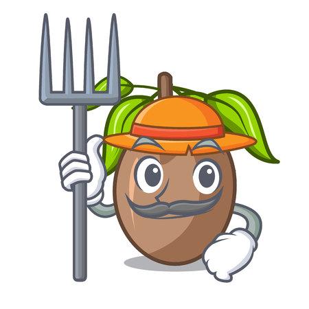 Farmer sapodilla fruit on the character bowl