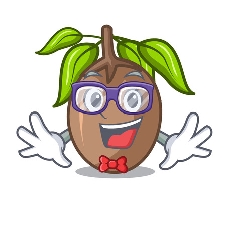 Geek sapodilla fruit isolated on the mascot