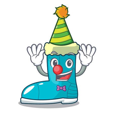 Clown winter boot in shape cartoon funny