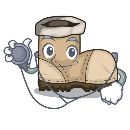 Doctor working boots Isolated on the mascot vector illustration