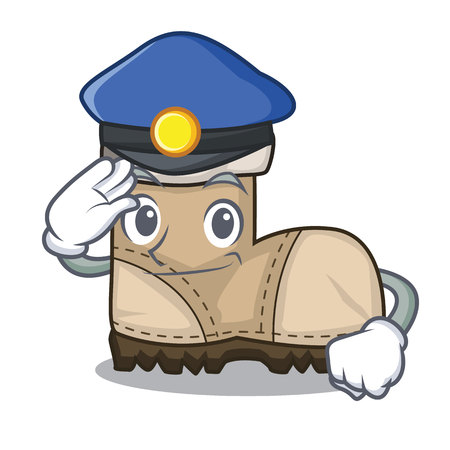 Police working boots Isolated on the mascot vector illustration