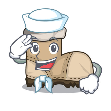 Sailor working boots Isolated on the mascot vector illustration Vectores