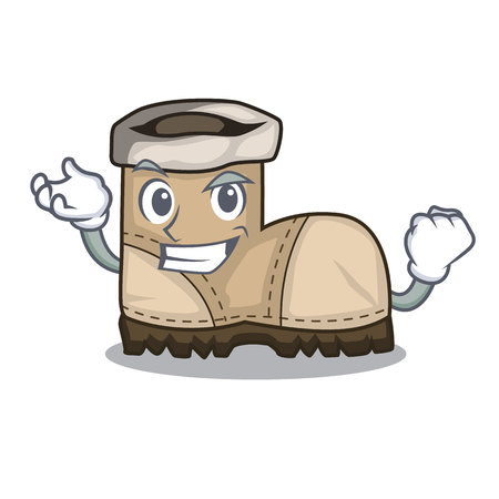 Successful working boot in shape cartoon beautiful vector illustration Çizim