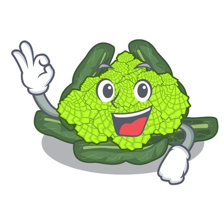 Okay detail texture of roman cauliflower character