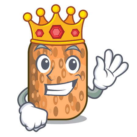 King fried tempeh on the mascot plate vector illustration