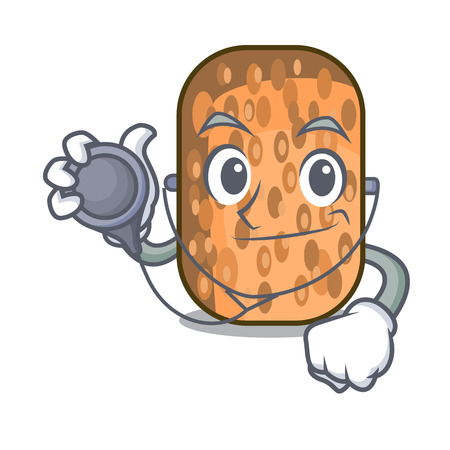 Doctor tempeh fried in the shape cartoon vector illustrartion