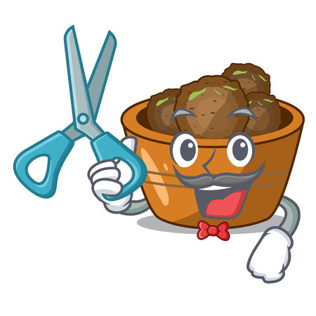 Barber jamun gulab in a cartoon bowl vector illustration Illustration