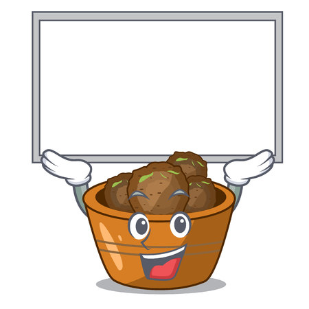 Up board jamun gulab in a cartoon bowl vector illustration