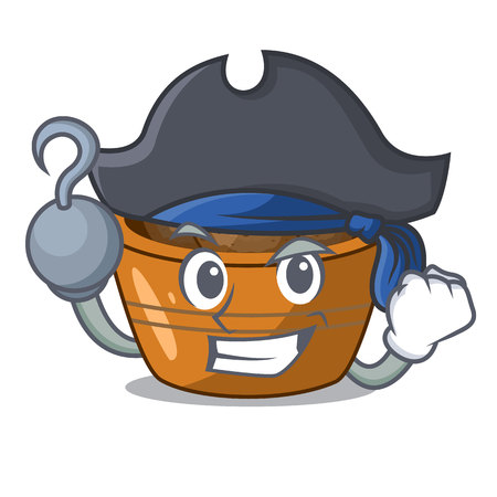 Pirate jamun gulab in a cartoon bowl vector illustration Illustration