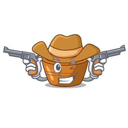 Cowboy jamun gulab in a cartoon bowl