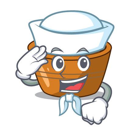 Sailor jamun gulab in a cartoon bowl vector illustration