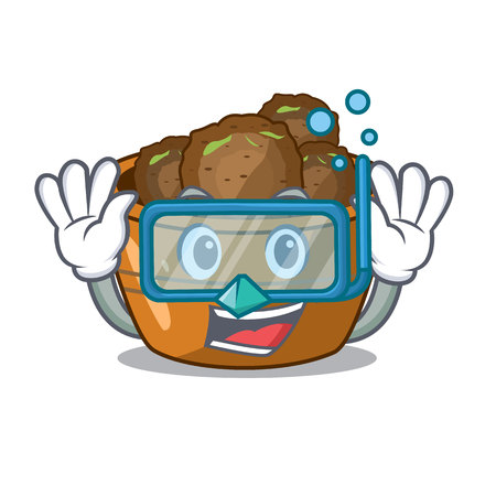 Diving gulab jamun on the character table vector illustartion