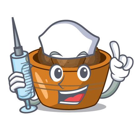 Nurse gulab jamun on the character table vector illustartion