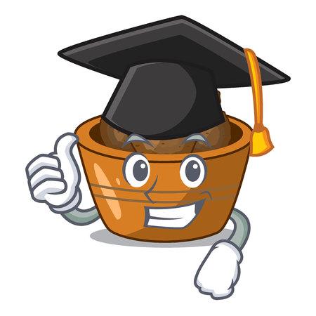 Graduation gulab jamun on the character table vector illustartion