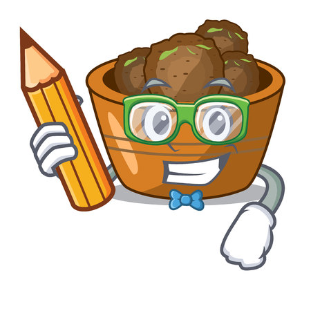 Student gulab jamun on the character table vector illustartion Vectores