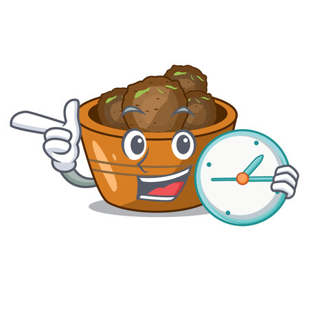 With clock gulab jamun on the character table vector illustartion