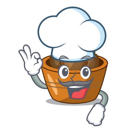 Chef gulab jamun on the character table vector illustartion