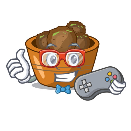 Gamer gulab jamun a very delicious cartoon vector illustartion