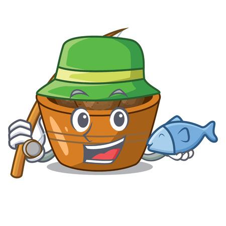 Fishing gulab jamun a very delicious cartoon vector illustartion Banco de Imagens - 126582689
