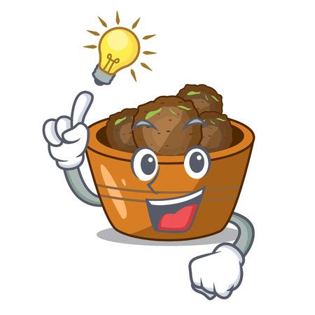Have an idea gulab jamun sprinkled with sugar mascot vector illustartion