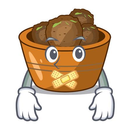 Silent gulab jamun sprinkled with sugar mascot
