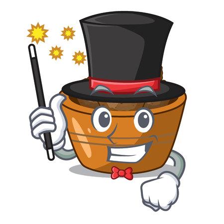Magician gulab jamun sprinkled with sugar mascot
