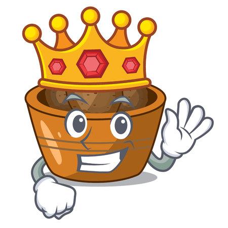 King gulab jamun sprinkled with sugar mascot vector illustartion