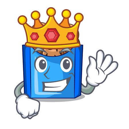 King fried falafel served at the mascot vector illustratin Ilustracja