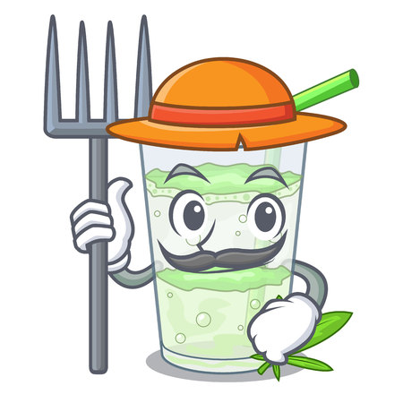 Farmer fresh lassi bhang in glass cartoon