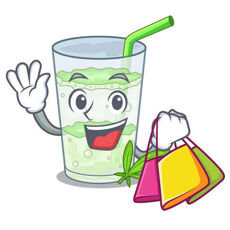 Shopping Lassi juice bhang in bottle character Illustration