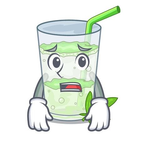 Afraid water lassi bhang in character cup vector illustartion