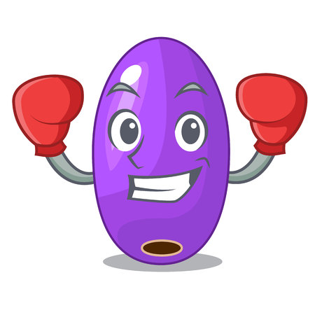 Boxing fruit jambolan in the character bowl vector illustartion Stok Fotoğraf - 126548350