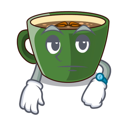 Waiting indian masala tea isolated on mascot vector illustration Иллюстрация