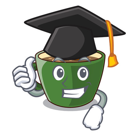 Graduation Indian masala tea on character board vector illustration