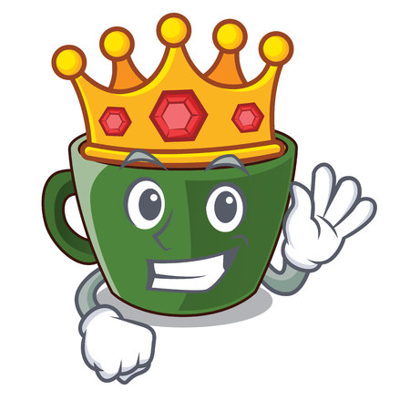 King indian masala tea isolated on mascot vector illustration