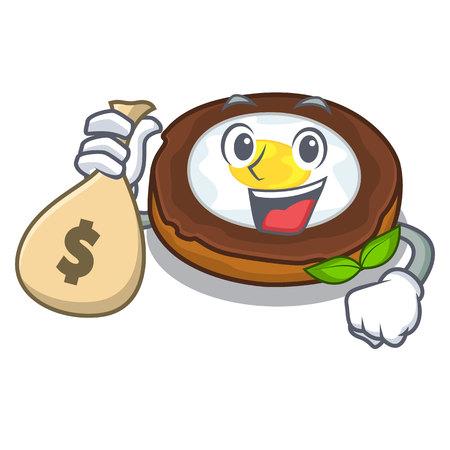 With money bag egg scotch cartoons are ready served